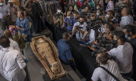 Egypt discovers 100 intact, sealed and painted coffins and a collection of 40 wooden statues in 2020's biggest archaeological discovery in Egypt.
