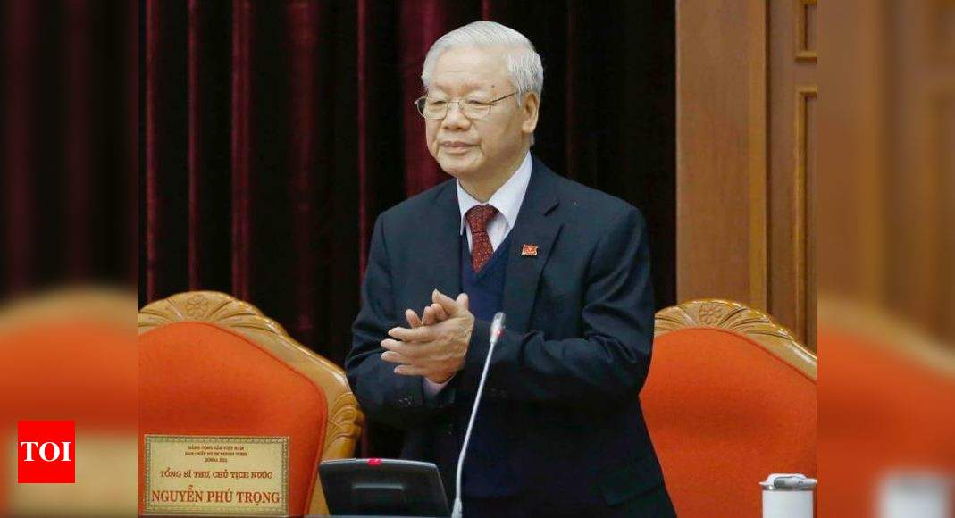 Vietnam ruling Communist Party chief Trong re-elected for third term