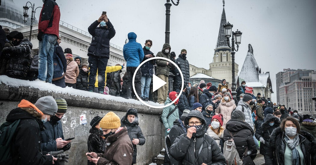 Navalny Supporters Are Met With Heavy Police Force Across Russia
