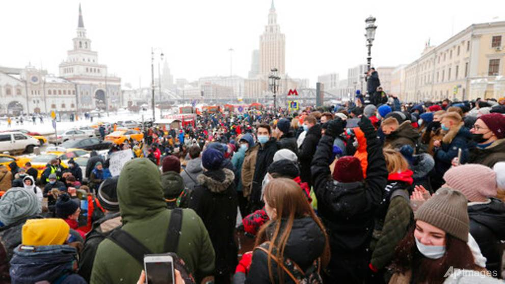 More than 3,000 arrested as Russians rally to demand Alexei Navalny's release