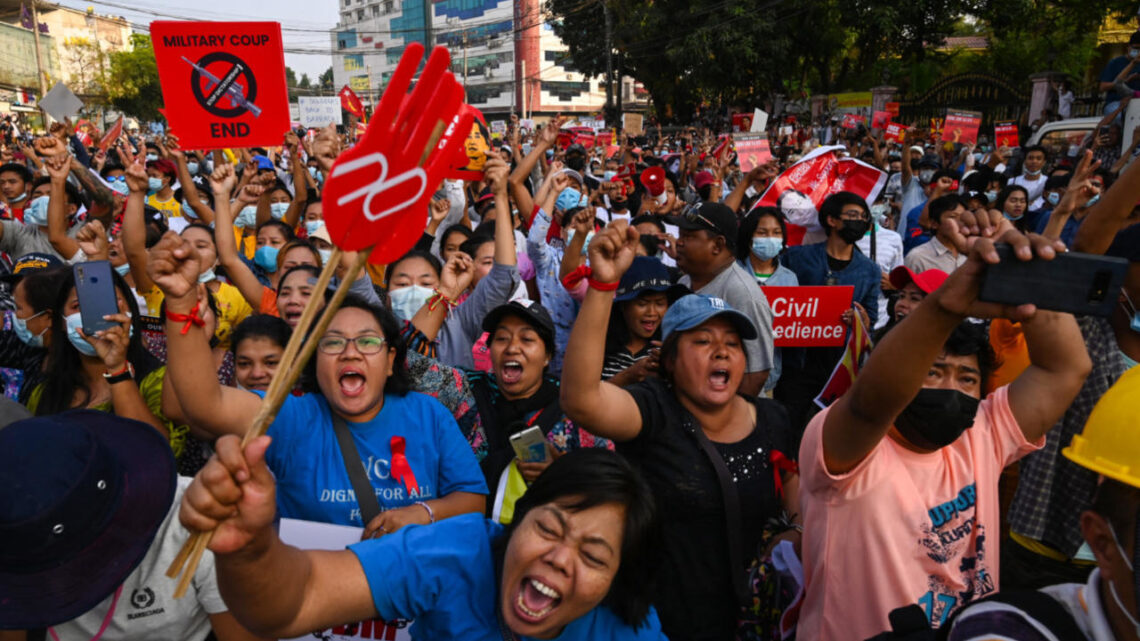 Myanmar junta deploys troops against fresh rallies as France vows support for protests