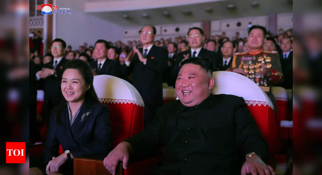Wife of North Korea ruler Kim Jong Un makes first public appearance in a year