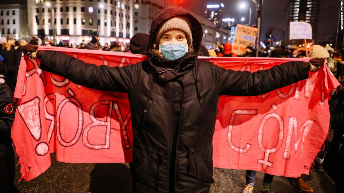 Poland: Voices from a protest march in Warsaw over near-total abortion ban