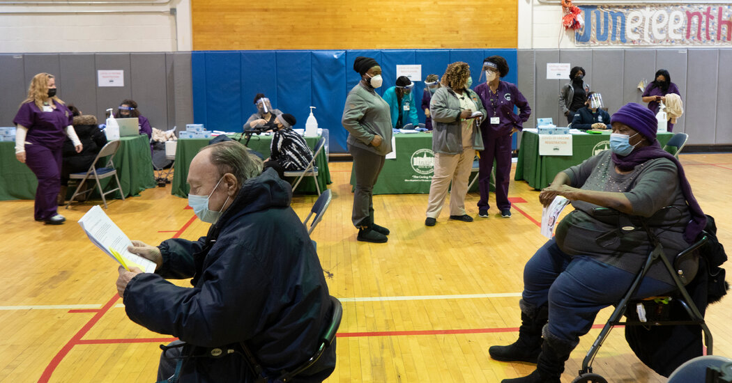 N.Y.C. Postpones Vaccine Appointments As Winter Storm Approaches