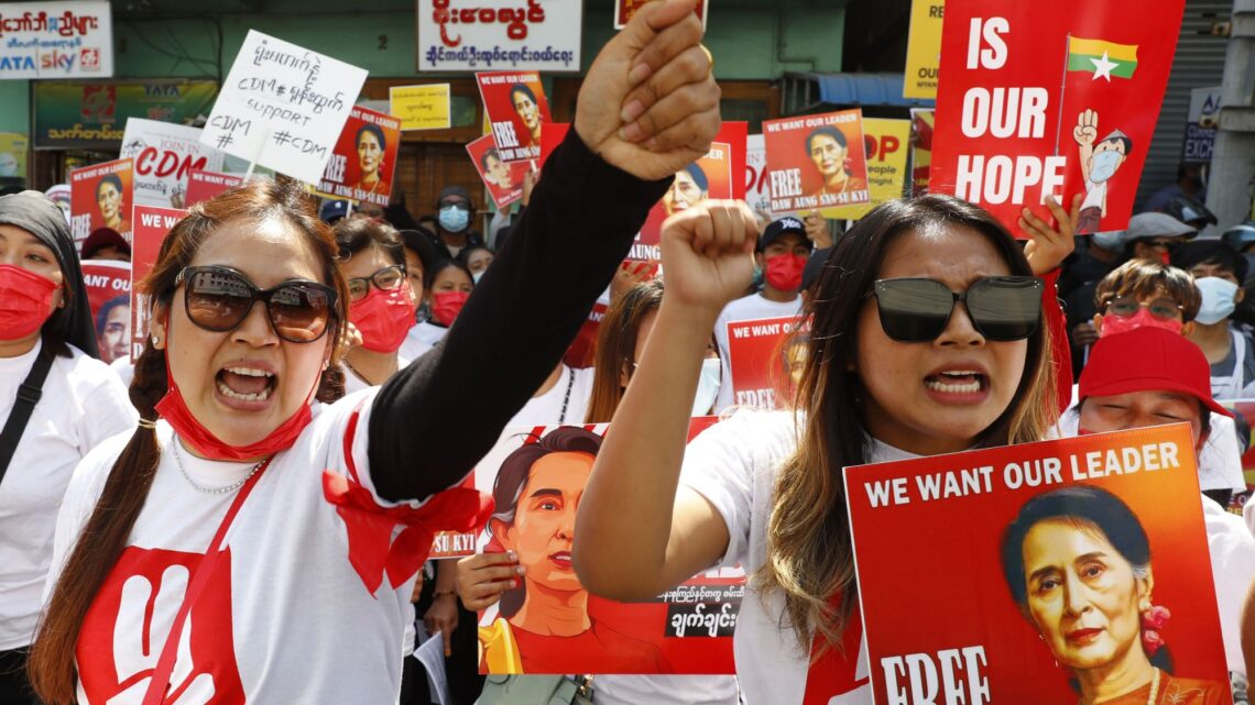 Myanmar security forces crack down on anti-coup protesters