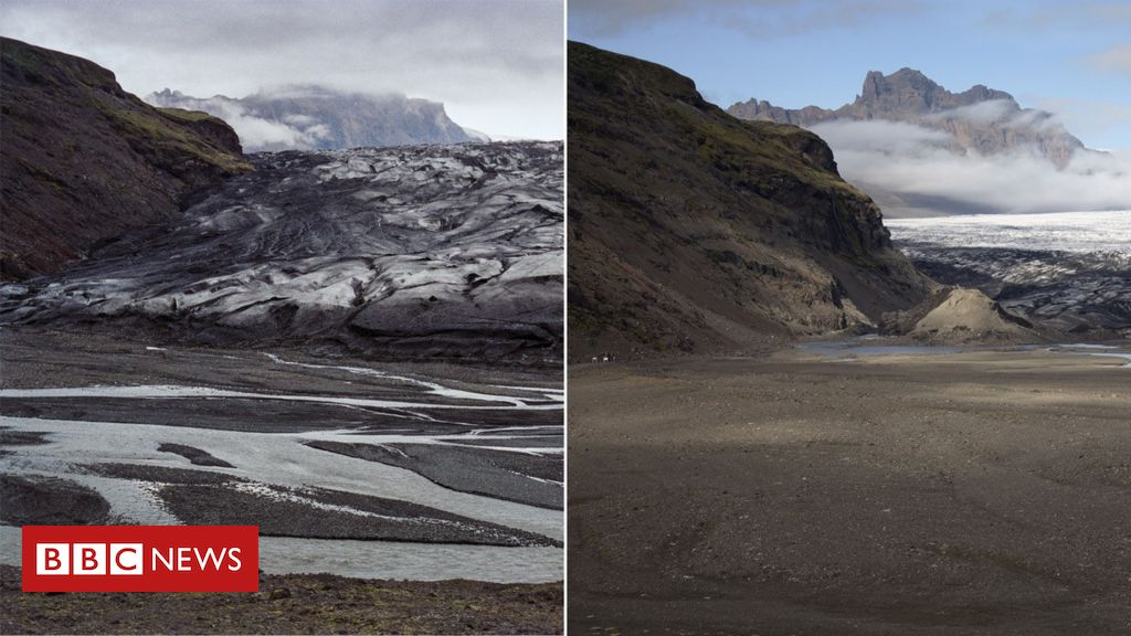 Now and then: Iceland's vanishing glaciers