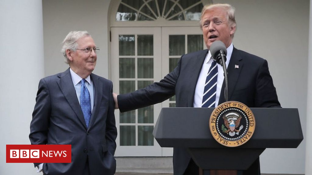 """Trump attacks """"dour"""" leader McConnell"""